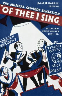 OF THEE I SING, 1932. Sheet music for George and Ira Gershwin's 1931 musical