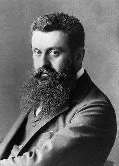 THEODOR HERZL (1860-1904). Hungarian-born Austrian journalist and founder of Zionism.