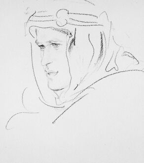 THOMAS EDWARD LAWRENCE (1888-1935). British archaeologist, soldier and writer. Drawing by Augustus John.