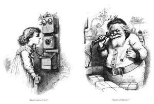 THOMAS NAST: SANTA CLAUS. 'Hello, Santa Claus!' 'Hello, Little One