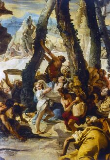 TIEPOLO: MANNA, c1741. 'The Gathering of Manna,' detail