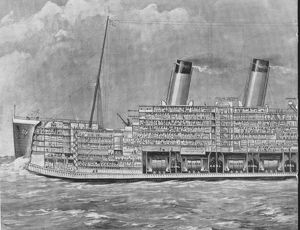 THE TITANIC, 1912. The biggest ship in the world, shown in section. From a contemporary newspaper