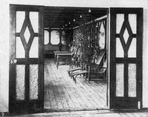 TITANIC: PRIVATE DECK, 1912. The private deck of one of the two exclusive suites, 1912.