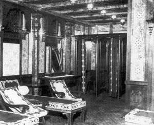 TITANIC: TURKISH BATH, 1912. The cooling room of the vessel's Turkish bath, 1912.