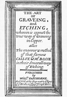 literature/title page engraving 1662 title page the art