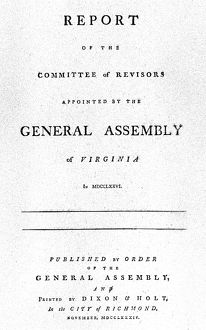Title page of the 'Report of the Committee of Revisors Appointed by the General
