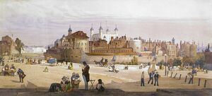TOWER OF LONDON, 1842. 'The Tower and the Mint from Great Tower Hill
