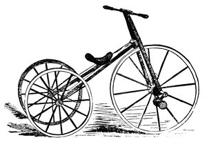 TRICYCLE, 19th CENTURY. Line cut, American, 19th century.