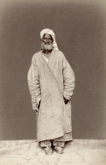TURKESTAN: MAZANG, c1865. A Mazang man of Turkestan. Photographed c1865-1872