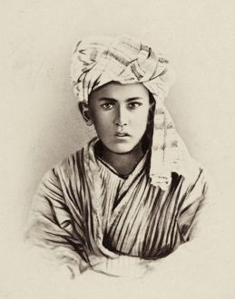 TURKESTAN: MAZANG, c1865. A young Mazang boy of Turkestan. Photographed c1865-1872