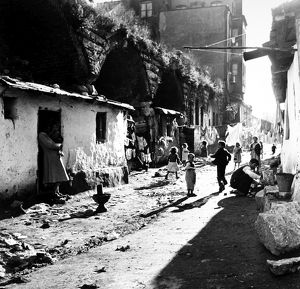 TURKEY: ISTANBUL, 1952. A street in a poor section of Istanbul, 1952.