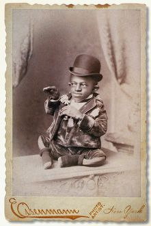 TURTLE BOY, c1895. George Williams, born with misshapen limbs and standing 18 inches tall