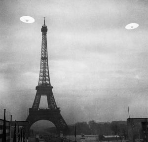 UFO: PARIS. Photograph of UFOs in Paris, France.