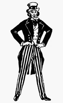 UNCLE SAM. 20th century illustration