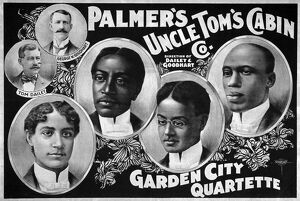 african american history/uncle toms cabin company lithograph poster palmers