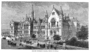 UNIVERSITY COLLEGE, 1881. A view of University College (the present-day University
