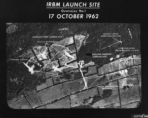 U.S. Air Force photograph of the launch site of intermediate-range ballistic missiles