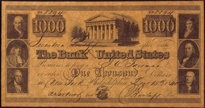 finance commerce/us bank banknote 1840 thousand dollar banknote