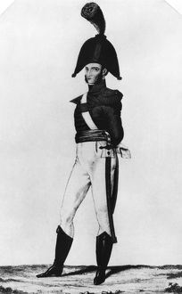 U.S. MARINE, 1819. A member of the United States Marine Corps, in dress uniform