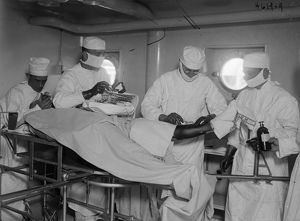 USS COMFORT, c1919. Orthopedic operating room aboard the hospital ship 'USS Comfort
