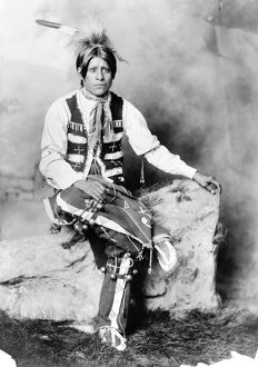 UTE MAN, c1906. A Ute bridegroom, from the western United States. Photograph, c1906.
