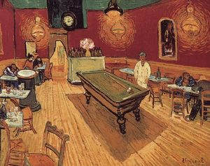 VAN GOGH: NIGHT CAFE, 1888. Vincent Van Gogh: The Night Cafe. Oil on canvas, 1888.