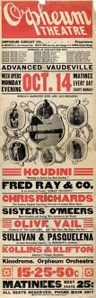 VAUDEVILLE POSTER, 1901. An American theater poster for a traveling vaudeville