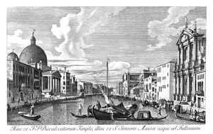 VENICE: GRAND CANAL, 1735. The Grand Canal in Venice, Italy looking from Chiesa