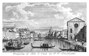 VENICE: GRAND CANAL, 1735. The Grand Canal in Venice, Italy, looking north-east