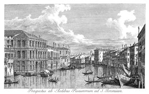 VENICE: GRAND CANAL, 1735. The Grand Canal in Venice, Italy, looking north-west