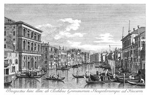 VENICE: GRAND CANAL, 1735. The Grand Canal in Venice, Italy, looking southwest