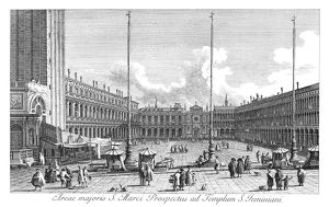 VENICE: PIAZZA SAN MARCO. Piazza San Marco in Venice, Italy, looking towards the