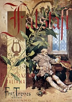 VERDI E IL FALSTAFF. Cover of 'L'illustrazione italiana,' 1893.