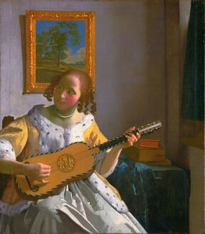 VERMEER: GUITAR PLAYER. By Johannes Vermeer.