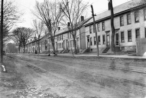 VERMONT: ROW HOUSES, c1909. A row of mill houses belonging to the woolen mill company
