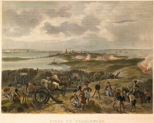 View from the British lines during the siege of Charleston, South Carolina, in 1780