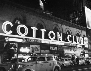 View of the Cotton Club in Harlem, New York, 1930s.