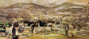 view sheffield england watercolor c1854 william