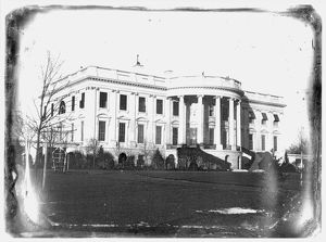 View of the south side of the White House. Daguerreotype, c1846, attributed to John Plumbe