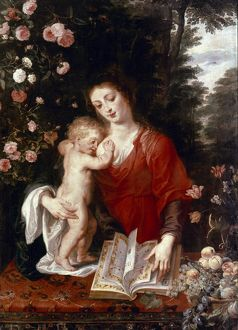 VIRGIN AND CHILD. Peter Paul Rubens. Canvas