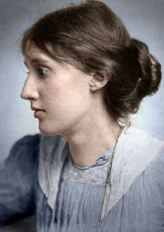 digitally colorized/virginia woolf 1882 1941 english writer