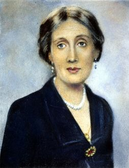 VIRGINIA WOOLF (1882-1941). English writer. Oil over a photograph, 1932.