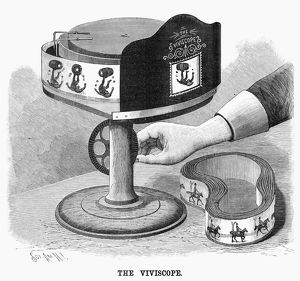 VIVISCOPE, 1896. The viviscope, which creates the illusion of a moving picture