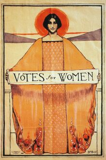 VOTES FOR WOMEN, 1911. American women's suffrage poster, 1911.