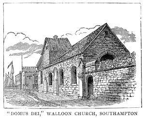 WALLOON CHURCH, 1885. 'Domus Dei,' a Walloon church in Southampton, England