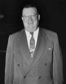 WALTER O'MALLEY (1903-1979). American sports executive. As President of the Brooklyn Dodgers
