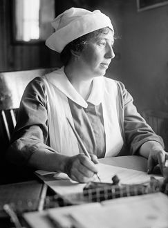 WALTER REED HOSPITAL, c1918. A nurse at Walter Reed Hospital in Washington, D.C