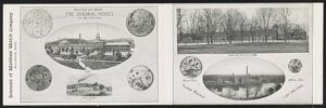 WALTHAM WATCH CO., c1906. Postcard is a collage of three small photographs of the