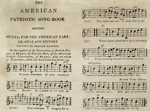 WAR OF 1812: SONGBOOK. Printed sheet music from The American Patriotic Song-Book