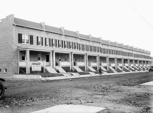 WASHINGTON D.C.: HOUSES. A view of new row houses for sale on 14th and Taylor Streets